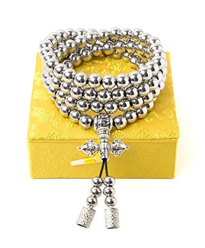 Penixon Selbstverteidigung 108 Buddha Perlen Halskette Ketten (Edelstahl)*