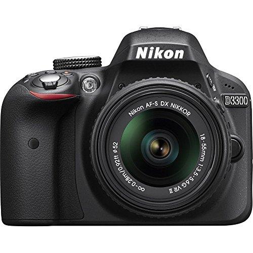 Nikon D3300 24.2 MP CMOS Digital SLR with AF-S DX NIKKOR 18-55mm f/3.5-5.6G VR II Zoom Lens (Black) (Renewed)