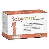 BabyFORTE Kinderwunsch Vitamine – 60 Kapseln - Vegan + JOD, 800 Folsäure, Vitamin D, Maca, Myoinositol, Q10 - Schwangerschaftsvitamine