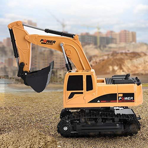 RC Auto kaufen Baufahrzeug Bild 2: Dilwe Fernbedienung Bagger, 6 Kanäle Bagger LKW 1/24 RC Engineering Baufahrzeug Spielzeug Geschenk für Kinder ( Kunststoff)*
