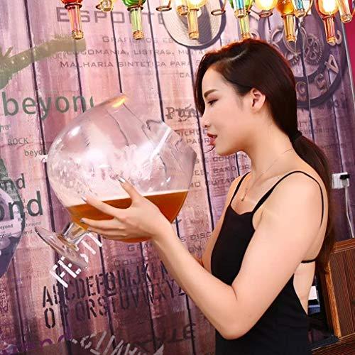 Riesen Weinglas Übergroße Bierglas Große Rotweingläser Riesenbierglas Aufmaß Trinkbecher Bar-Partei-Verein mit Whiskey Cocktail for Geburtstage Weihnachten Weingläser (Size : 12000ml)