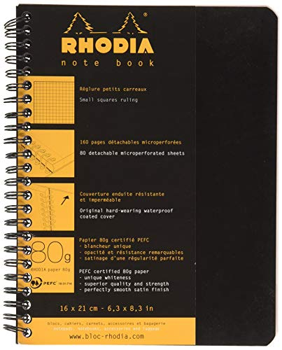 Rhodia 19346C Notebook (liniert, ideal für Ihre Notizen, DIN A5, 80 Blatt, 21 x 16 x 1 cm) 1 Stück farbig sortiert