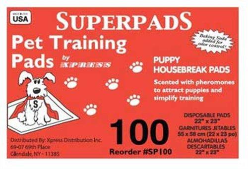 Superpads Original 22 x 23-Inch Pet Training Pads, 100-Pack