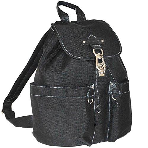 Katana Sac à dos multi-poches nylon et cuir - noir