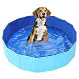 Currentiz Hundepool, Doggy Pool, Foldable Pool Pet Swimming Pool Cat Pool Children's Bathtub Pet Bathtub, Eco-Friendly PVC, Non-Slip, Well-Sealed Pets, Children's Gifts