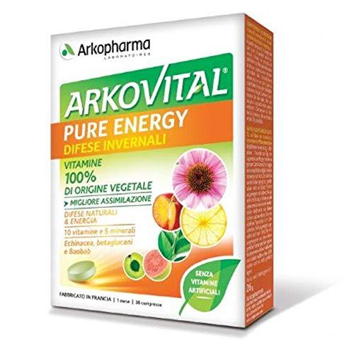 Arkopharma ArkoVital Pure Energy Difese Invernali Integratore, 30 Compresse