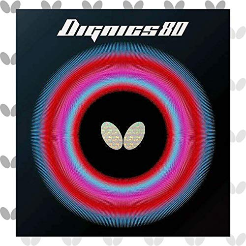 For Sale! Butterfly Dignics 80 Table Tennis Rubber Table Tennis Rubber | 1.9 mm or 2.1 mm | Red or B...