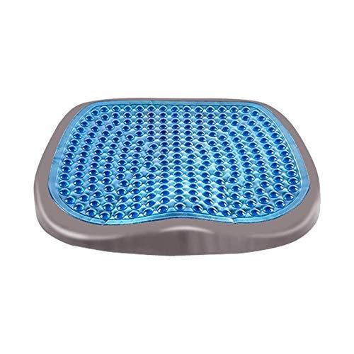 XTZJ Cojín de asiento de gel, almohadillas de silla de cojín de asiento de huevo con cubierta antideslizante para la silla de ruedas del automóvil de oficina para el hogar, diseño de panal transpirabl