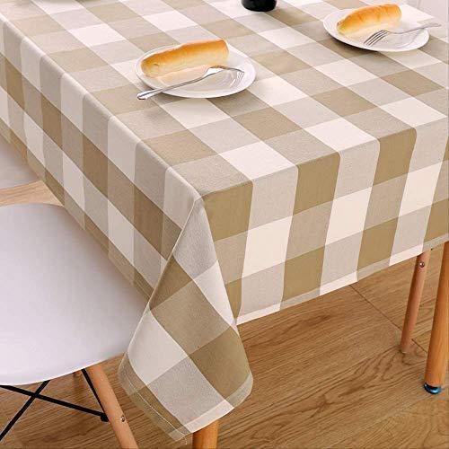 ZSWFGG Couchtisch tischdecke Tuch esstisch Plaid Tuch Platz Baumwolle leinen klein frisch rechteckig einfach modern 130 * 180cm