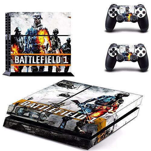 FENGLING Jeu Battlefield 1 Ps4 Skin Sticker Decal pour Sony Playstation 4 Console et 2 contrôleurs Ps4 Skins Sticker Vinyl