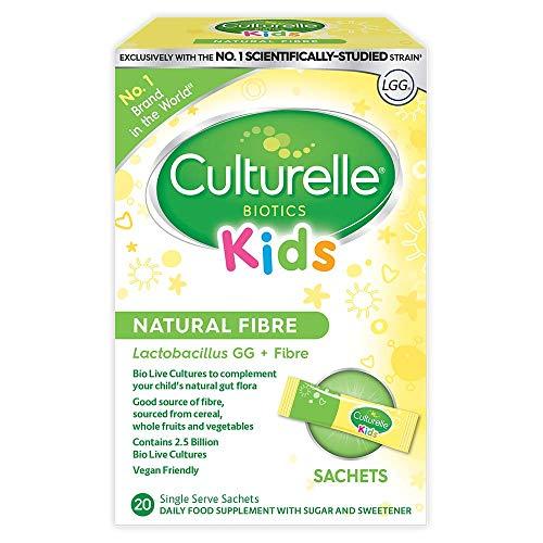 Culturelle Kids Biotics Natural Fibre Daily Supplement for Children | 20 Sachets | 2.5 Billion Live Bacterial Cultures + Fibre | Lactobacillus Rhamnosus GG Strain | Vegan | Gluten Free