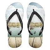 Mnsruu Venecia Italia - Chanclas de madera para el hogar, zapatillas de hotel, spa, dormitorio, viajes, para hombres y mujeres