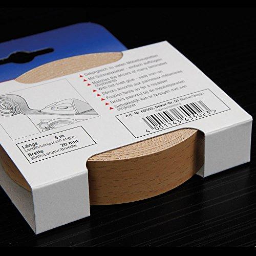 Kantenumleimer für Möbelbauplatten und Regalbretter Buche 5 m x 20 mm