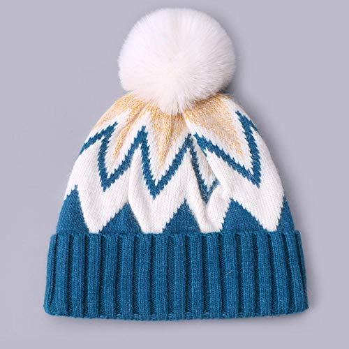 N-N Winter Hats Beanie Thick Warm Velvet Pompon Bonnets Ski Cap  Ball Warm Hat Ideal For Winter Sports Outdoor Cycling Running Running Skiing-01_China_56-58Cm