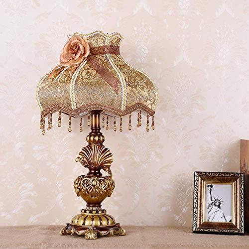 Lámpara de Mesa Lámpara de Dormitorio de Estilo Europeo lámpara de Noche cálida lámpara cálida para el hogar Retro Simple lámpara Original Moderna 33 * 55 cm (Color:b) (Color : B)