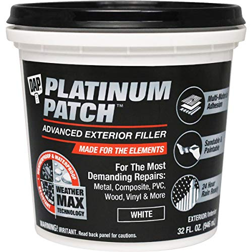 DAP 7079818787 Platinum Patch Advanced Qt Raw Building Material, White