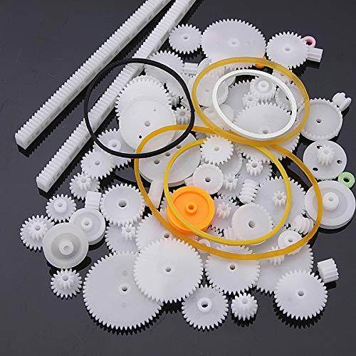75 Teile Set Zahnräder, Schneckenantriebe, Zahnstange, etc.