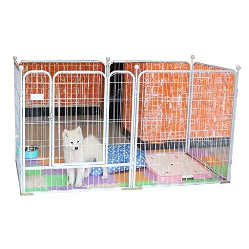 FENGHUANG Jaula de Perro, los cajones del Perro Valla Cubierta Grande Cerca del Perro Pequeño Medio Barandilla para Mascotas,XL