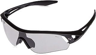 Puma Men's PU0090S PU0090SA-004 99 Wrap Sunglasses, Black, 99 mm