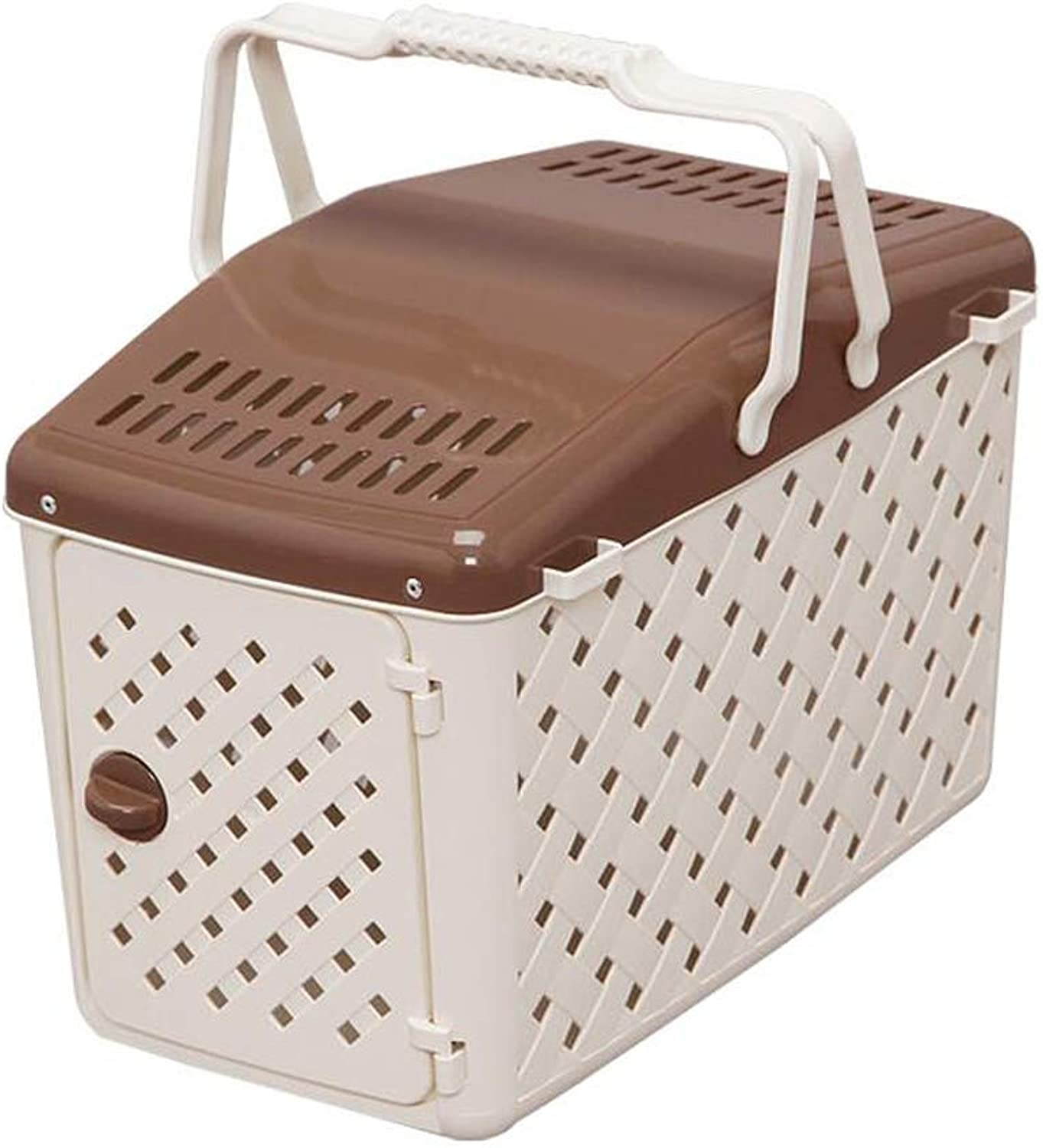Pet bag Cat Teddy Out Of The Cat Cage Dog Bag Cat Alice Portable Cage Lostgaming (color   Brown)