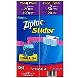 Ziploc Bags Slider Pack (120 CT Gallon Storage)