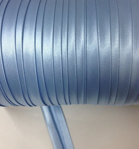12 yards 5/8 inch Single Fold Satin Bias Tape 20 Different Colors In Baby Blue