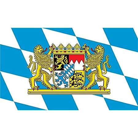 Etaia 5x Mini Premium Aufkleber 5x6 5 Cm Freistaat Bayern Löwen Wappen Mit Schriftzug Kleine Sticker Motorrad Fahrrad Autobike Auto
