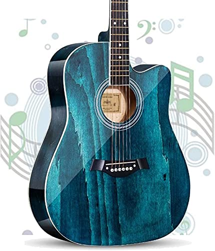 SLZFLSSHPK Guitarra acustica Guitarra Clasica Guitarra acústica Guitarra clásica & Nbsp; Kit básico de Guitarra Dreadnought Spruce de tamaño Completo de 41 '' & Nbsp; con Gig Bag Tuner