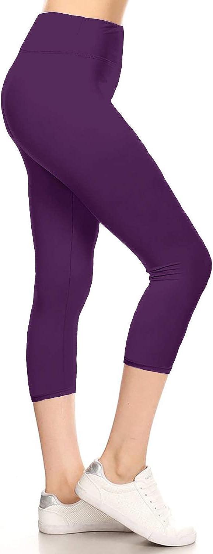 Leggings Depot High Waisted Yoga Capri Leggings -Soft & Slim - 42+ Colors & 1000+ Prints