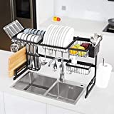 Befano Over The Sink Dish Drying Rack Adjustable (33.5-42.5'inch)...