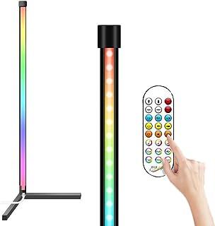 LED Stehlampe Dimmbar Mit Fernbedienung Nordischer Stil Eck Standleuchte Innenatmosphäre Lampe Für Wohnzimmer Farbwechsel ...