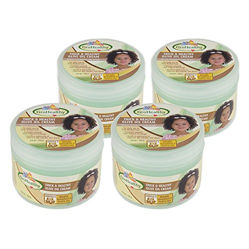 Sofn'Free n'Pretty GroHealthy Thick And Healthy Olive Oil Cream 8.8 oz Pack of 4