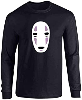 No Face Kaonashi Nerd Apparel Geek Full Long Sleeve Tee T-Shirt