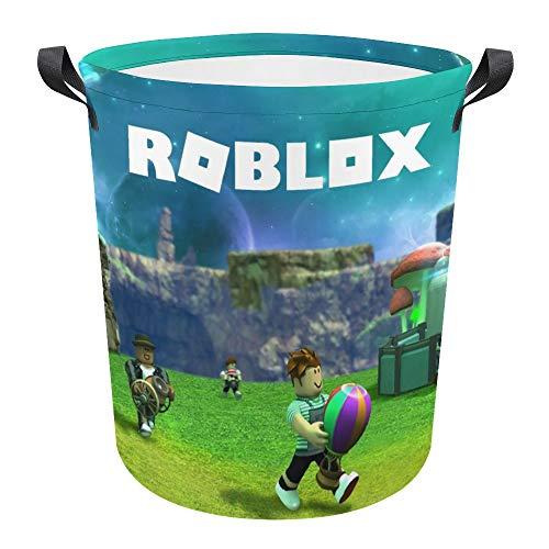 Ro-blox Cesta plegable impermeable de 17.3 pulgadas para ropa sucia, cesta de lavandería, cesta de tela Oxford, organizador de almacenamiento para juguetes