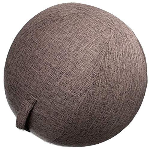 Silla de balón ergonómica para escritorio, funda de bola duradera, silla de balón lisa, asiento de balón para casa, balón, asiento de oficina, pilates, yoga, pelota, marrón, 65 cm