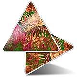 2 pegatinas triangulares de 10 cm, diseño floral de arte tropical para portátiles, tabletas, equipaje, reserva de chatarra, nevera #21150