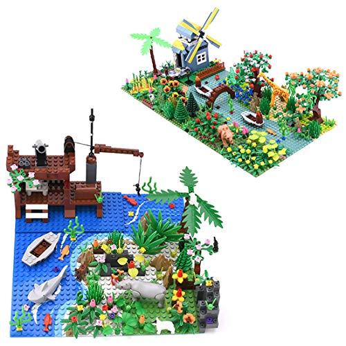 OviTop Tropischer Regenwald Botanische Landschaft Bausatz mit 3er Bauplatten, DIY Bausteine Bausatz kompatibel für Lego Baumhaus