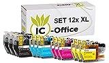 XL Cartuchos Set de Impresora con Chip Compatible Brother lc3217 lc3219 lc-3217-xl lc-3219-xl Tinta para Ducker MFC j5330dw j5335dw j5730dw j5930dw j6530dw j6930dw j6935dw - 12er Set