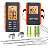 Wireless Digital Meat Thermometer for Grilling Smoking - Kitchen Cooking Candy Thermometer with 3...