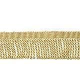WANDIC - Frangia in poliestere, motivo lingotto, 13 metri, per tende, divano, artigianato, decorazione, colore: oro