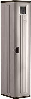 Suncast Storage Resin Construction for Garage Organization Cabinets, Platinum Doors & Slate Top