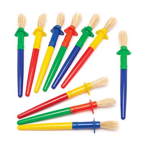 Baker Ross Kinderpinsel mit dickem Griff und Tropfschutz (12 Stück) – Pinsel für Kinder, mit denen keine Farbe auf die Hände tropft