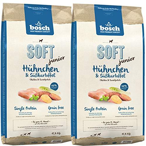 Bosch 2 x 12,5 kg Soft Junior Hühnchen & Süßkartoffel
