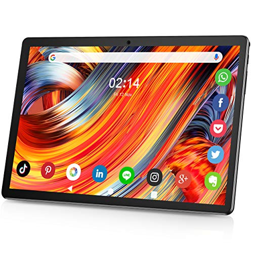 Tablet 10.1 Zoll Android 9.0 3G Telefon Tablets mit 2GB RAM 32GB ROM dual SIM Karte Slot und Zwei Kamera 5MP WiFi Bluetooth GPS Quad Core HD Touchscreen 3G Telefonanrufen 10