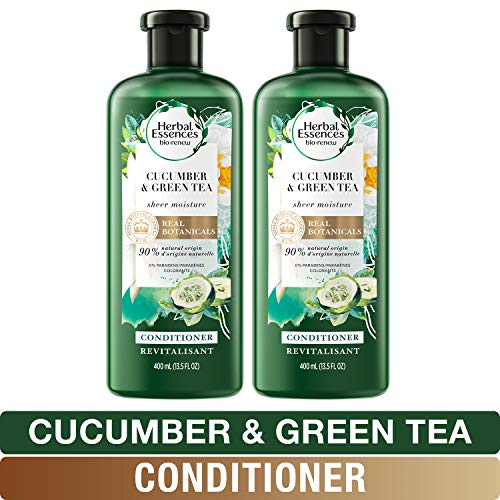 Herbal Essences, Conditioner with Natural Source Ingredients, BioRenew Cucumber & Green Tea, 13.5 fl oz, Twin Pack