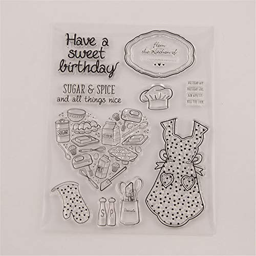 Happy Birthday Sweet Cake Phrase Stamp Rubber Clear Stamp/Seal Scrapbook/Photo Album Decorative Card Making Clear Stamps