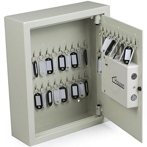 Hausen - Schlüsseltresor mit elektronischem Zahlenschloss - zur Wandbefestigung - für 48 Schlüssel