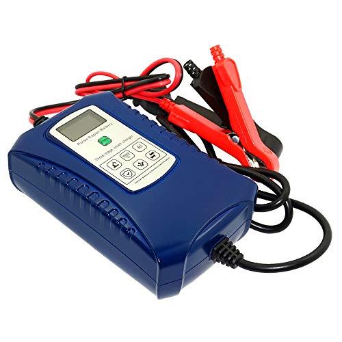 GOZAR 12V 24V Inteligente Legumbres Reparar Batería Cargador 3 Etapas Eléctrico Batería Cargador