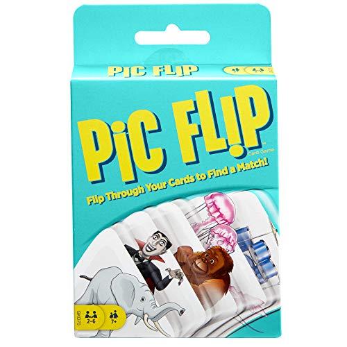 Mattel Games, juego de cartas para niños Flip Pic (Mattel GKD70)