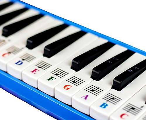 Piano Stickers for 32/37 Key Melodica-Transparent and Removable-Made in USA